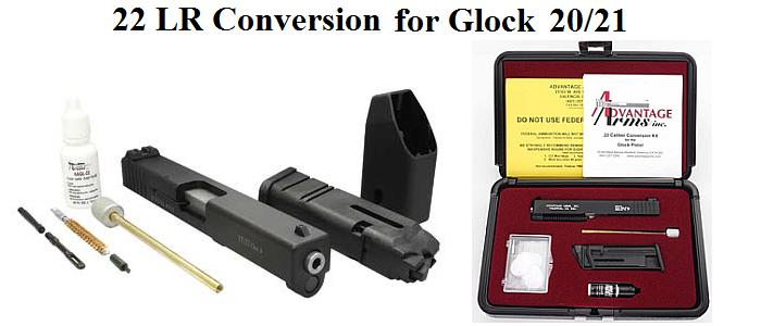 22 LR Conversion For Glock 20/21 with Adjustable Sights - AAC2021