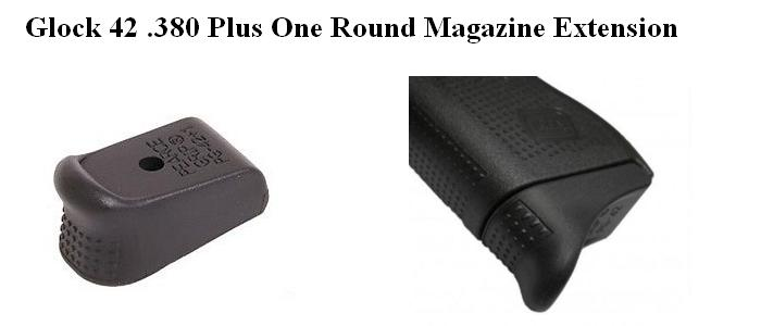 Glock 42, 380 ACP Magazine Extension Plus One Round - AG7421